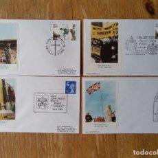 Sellos: Q336-LOTE SOBRES VISITAS PAPA PABLO II A LONDRES 1882 MATASELLOS ESPECIALES. LES ENVELOPPES Q336. Lote 120960287
