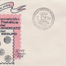 Sellos: AÑO 1962, VIRGEN DEL PERPETUO SOCORRO, PATRONA DEL SEGURO, EN SOBRE DE ALFIL . Lote 121043547