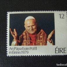 Sellos: IRLANDA Nº YVERT 410*** AÑO 1979. VISITA DEL PAPA JUAN PABLO II. Lote 121817439