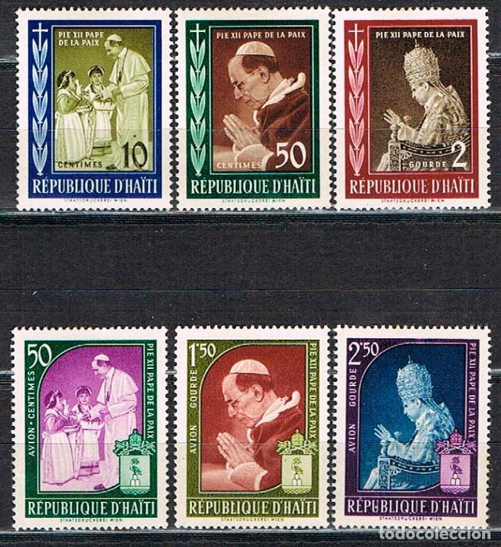 HAITI Nº 543/8, 1959 PAPA PÍO XII. PAPA DE LAS PAZ, NUEVO *** (Sellos - Temáticas - Religión)