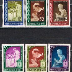 Sellos: HAITI Nº 543/8, 1959 PAPA PÍO XII. PAPA DE LAS PAZ, NUEVO ***. Lote 122295947