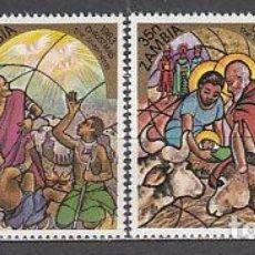 Timbres: ZAMBIA 1983 - NAVIDAD - YVERT 290-293**. Lote 122917455