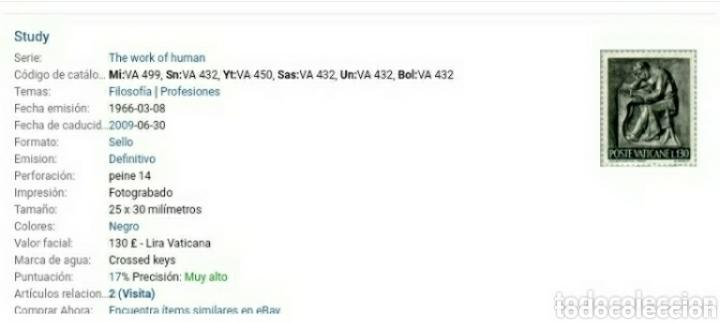Sellos: Sellos Ciudad Vaticano matasellado.1966. Oficios. Estudio. Herrero.Musico.Astronomo.Pintor.Escultor. - Foto 3 - 127013800