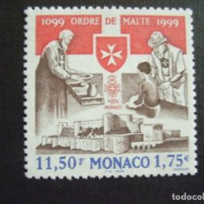 Sellos: MONACO Nº YVERT 2215*** AÑO 1999. 900 ANIVERSARIO ORDEN DE MALTA. Lote 127682275