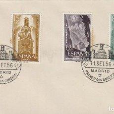 Sellos: EDIFIL 1192/4, 75 ANIVº DE LA CORONACION VIRGEN DE MONTSERRAT,PRIMER DIA DE 11-9-1956. Lote 128039471