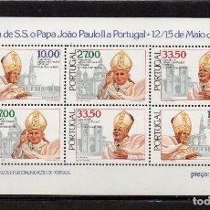 Sellos: PORTUGAL HB 37** - AÑO 1982 - VISITA DEL PAPA JUAN PABLO II. Lote 128443423