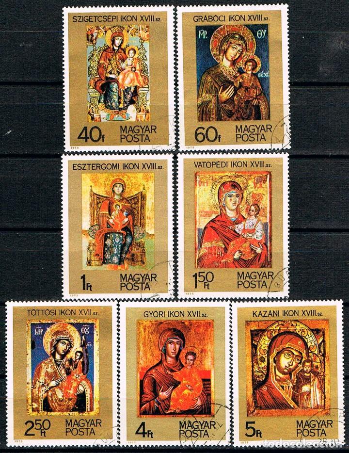 HUNGRIA Nº 3104/10, ICONOS, SIFGLOS XVII Y XVIII, USADO (SERIE COMPLETA) (Sellos - Temáticas - Religión)