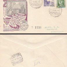 Sellos: AÑO 1949, IV CENTENARIO SAN FRANCISCO JAVIER, FIESTAS DE SAN FERMIN DE PAMPLONA, SOBRE ALFIL CIRCUL . Lote 129248503