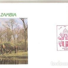 Sellos: ZAMBIA & FDC VISITA DE SU SANTIDAD EL PAPA JUAN PABLO II, II, KITWE 1989 (5588) . Lote 134841286