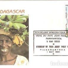 Sellos: MADAGASCAR & FDC VISITA DE SU SANTIDAD EL PAPA JUAN PABLO II, FIANARANTSOA 1989 (5588). Lote 134841406