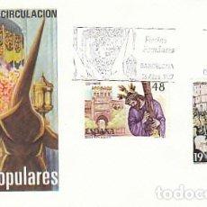 Sellos: EDIFIL 2897 Y 9, SEMANA SANTA DE SEVILLA Y ZAMORA, PRIMER DIA DE 13-4-1987 SFC. Lote 138053058