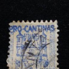 Sellos: SELLO CORREOS CATALUÑA, PRO CANTINAS ESCOLARES, 5 CENT, 1938 USADO. Lote 146679218