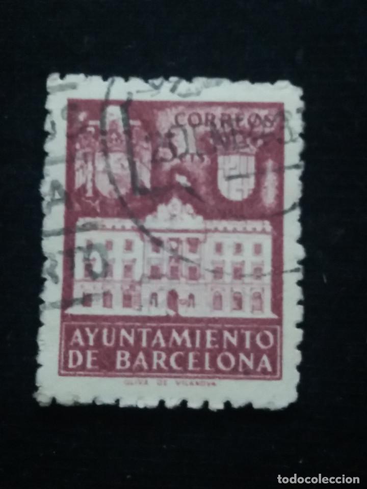 Sellos: 6 sellos ayuntamiento de barcelona, 5 cent, 1936 usado - Foto 2 - 146681622