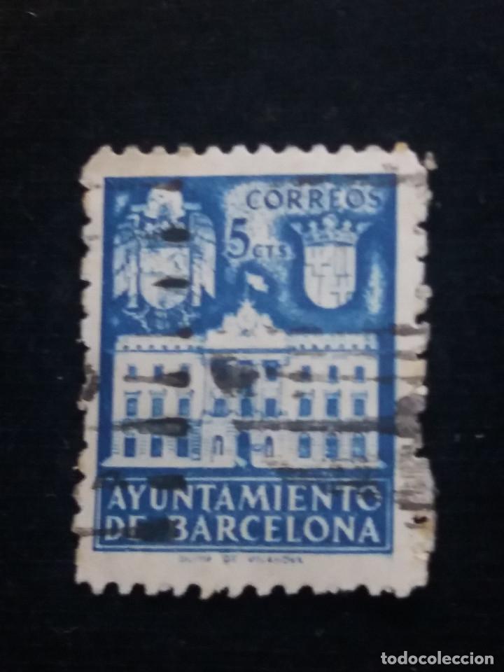 Sellos: 6 sellos ayuntamiento de barcelona, 5 cent, 1936 usado - Foto 4 - 146681622
