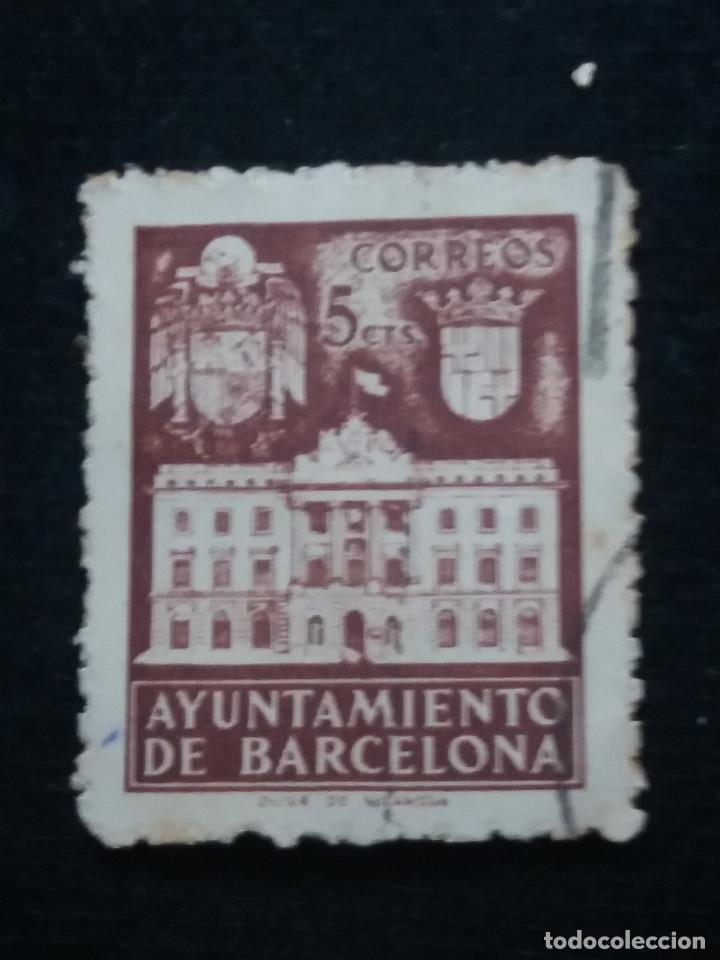 Sellos: 6 sellos ayuntamiento de barcelona, 5 cent, 1936 usado - Foto 5 - 146681622