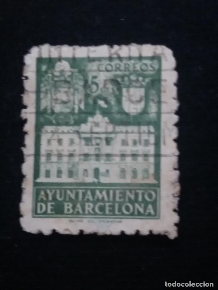 Sellos: 6 sellos ayuntamiento de barcelona, 5 cent, 1936 usado - Foto 6 - 146681622