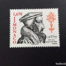 Sellos: MONACO Nº YVERT 2689*** AÑO 2009, 500 ANIVERSARIO NACIMIENTO REFORMADOR RELIGIOSO J. CALVINO. Lote 146807318