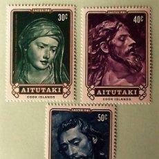 Sellos: AITUTAKI. 274/76 PASCUA: ENTIERRO DE JESUSCRISTO DE ROLDÁN, CONSERVADOS EN EL HOSPITAL DE LA CARIDAD. Lote 147802352