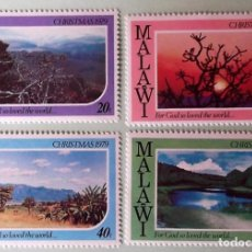 Sellos: MALAWI. 342/45 NAVIDAD: PAISAJES. 1979. SELLOS NUEVOS Y NUMERACIÓN YVERT.. Lote 147802508