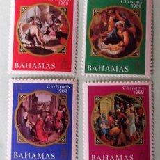 Sellos: BAHAMAS. 283/86 NAVIDAD: ADORACIÓN DE LOS PASTORES DE NAIN Y POUSSIN, ADORACIÓN DE LOS REYES DE GÉRA. Lote 147802540