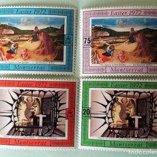 Sellos: MONTSERRAT. 274/77 PASCUA: CUADROS: CAPILLA DEL CRISTO DE GETSEMANÍ Y JARDÍN DE LOS OLIVOS.1972. SEL. Lote 147802564
