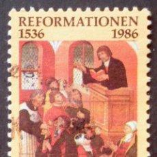 Sellos: 1986 DINAMARCA 450 ANIVERSARIO REFORMA PROTESTANTE DINAMARCA. Lote 150026950