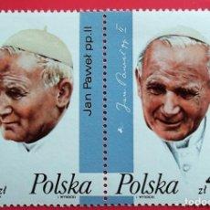 Francobolli: POLONIA. 2909/10 VISITA DEL PAPA JUAN PABLO II A POLONIA. 1987. SELLOS NUEVOS Y NUMERACIÓN YVERT.. Lote 150707033