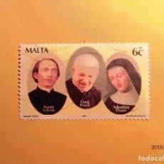 Sellos: MALTA 2001 - NAZJU FALZON, GORG PRECA Y ADEODATA PISANI.. Lote 150965122
