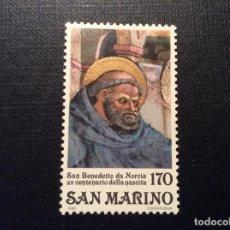 Timbres: SAN MARINO Nº YVERT 1004*** AÑO 1980.SAN BENITO DE NURSIA, PATRON DE EUROPA. Lote 151171186