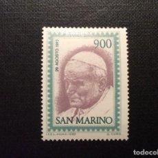 Sellos: SAN MARINO Nº YVERT 1062*** AÑO 1982.VISITA DEL PAPA JUAN PABLO II. Lote 151171226