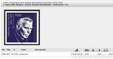 Sellos: Sellos Alemania, R. Federal mtdo/1996/L Aniv. muerte cardenal von Galen/religion/famoso/ - Foto 2 - 155183597