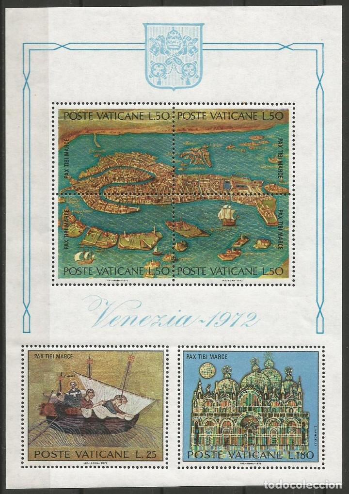 VATICANO - BLOQUE DE VENEZIA 1972 - SIN USAR - COMPLETAMENTE NUEVO (Sellos - Temáticas - Religión)