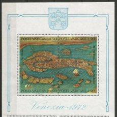 Sellos: VATICANO - BLOQUE DE VENEZIA 1972 - SIN USAR - COMPLETAMENTE NUEVO. Lote 157485762