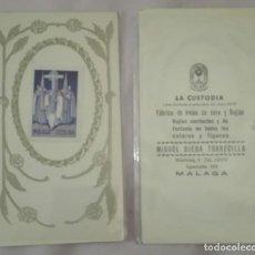 Sellos: -74582 SELLO SEMANA SANTA MALAGA, AÑO 1944, FABRICA DE VELAS DE CERA Y BUJIAS LA CUSTODIA. Lote 159163154