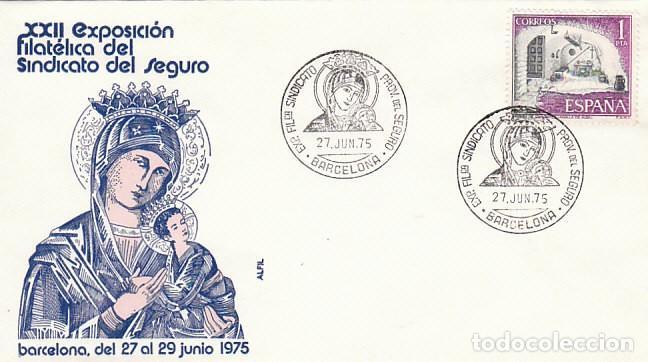 AÑO 1975, VIRGEN DEL PERPETUO SOCORRO, PATRONA DEL SEGURO, SOBRE DE ALFIL (Sellos - Temáticas - Religión)