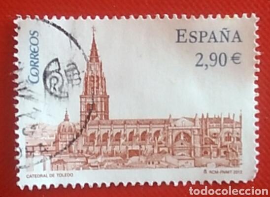 SELLO ESPAÑA SELLO CATEDRAL TOLEDO USADO (Sellos - Temáticas - Religión)