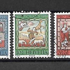 Timbres: PRO-PATRIA. SUIZA. AÑOS 1966/7. Lote 161748414