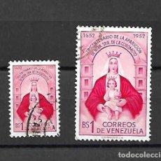 Sellos: NTRA.SRA. DE LA COROMOTO. VENEZUELA. SELLOS AÑO 1952. Lote 161755418