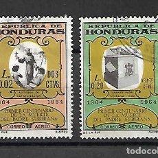 Sellos: PADRE SUBIRANA, 1º CENT. DE SU MUERTE. HONDURAS. SELLOS AÑO 1965. Lote 161765082