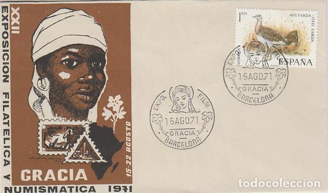 AÑO 1971, VIRGEN, EXPOSICION DE GRACIA, SOBRE OFICIAL DE LA EXPOSICION (Sellos - Temáticas - Religión)