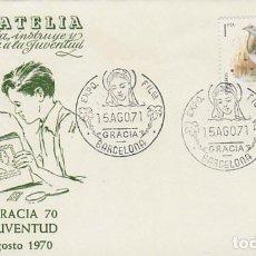 Sellos: AÑO 1971, VIRGEN, EXPOSICION DE GRACIA, SOBRE DE ALFIL . Lote 163738050