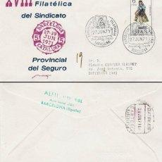 Sellos: AÑO 1971, VIRGEN DEL PERPETUO SOCORRO, SINDICATO DEL SEGURO, SOBRE DE ALFIL CIRCULADO. Lote 163738138