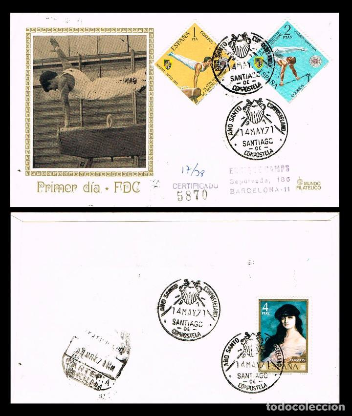 AÑO 1971, SANTIAGO DE COMPOSTELA,AÑO SANTO COMPOSTELANO, MUNDO FILATELICO, PRIMER DIA DE LOS SELLOS (Sellos - Temáticas - Religión)