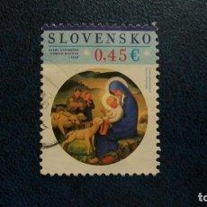 Sellos: RELIGION-CRISTIANISMO-FIESTAS-PASQUA-ESLOVQUIA-2015-0,45 EUR /º/. Lote 171769043