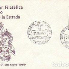Sellos: AÑO 1969, EXPOSICION VIRGEN DE LA ESTRADA, SOBRE DE ALFIL. Lote 166881140