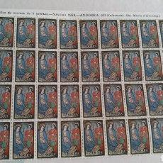 Sellos: PLIEGO DE 40 SELLOS DE 5 PTS DE ANDORRA. NAVIDAD 1978. Lote 167587777