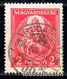 HUNGRIA Nº 511, SANTA ISABEL CON UN NIÑO, USADO (Sellos - Temáticas - Religión)