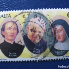 Sellos: MALTA, 2001 SELLO USADO, TEMA RELIGION. Lote 169973268