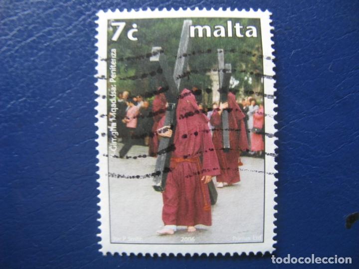 MALTA, 2006 SELLO USADO (Sellos - Temáticas - Religión)