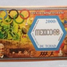 Sellos: OLMPIADAS DE MEJICO 1968 HOJA BLOQUE DE SELLOS NUEVOS DE REPÚBLICA DEL CHAD. Lote 170204822